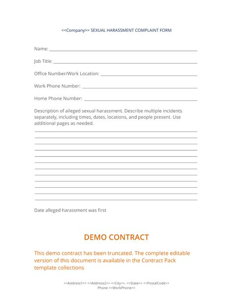 Sexual harassment or discrimination complaint form png 1024x1325